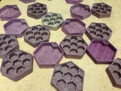 Purpleheart Hex Chests