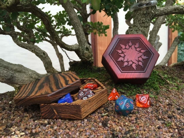 Bocote and redheart Hex Chests