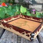 Dragon-Mountains Scroll Rolling Tray