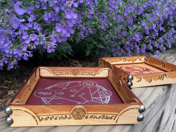Scroll Dice Rolling Tray