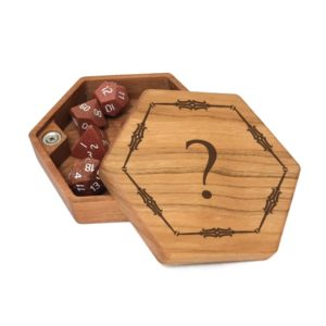 Hex Chest dice box custom art