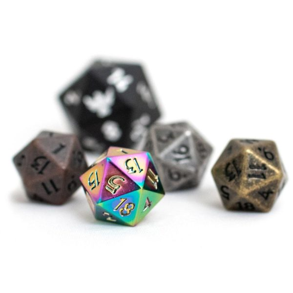 Miniature 10mm polyehedral d20 dice