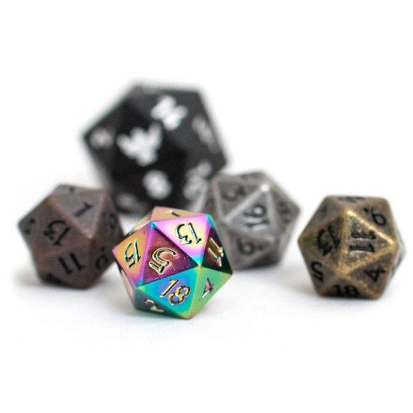 Miniature 10mm polyehedral d20 dice