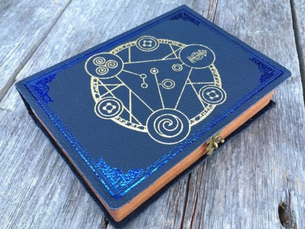 Spellbook with Blue Leather