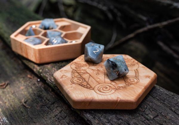 Birdseye Maple Hex Chest Dice Box