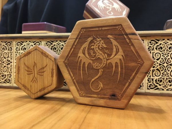 Hex Chest and Hex Chest Mini Dice Boxes