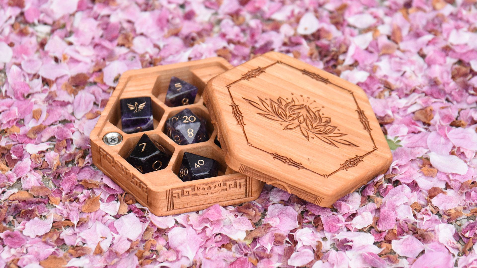 Hex Chest Dice Boxes