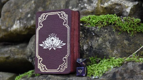 Miniature Spellbook dice box and miniature figurine box