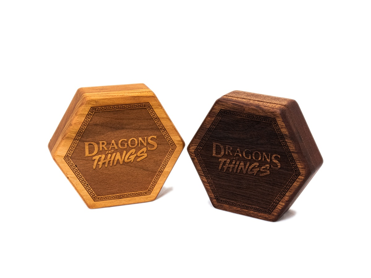 Dragons and Things Hex Chest Dice Box