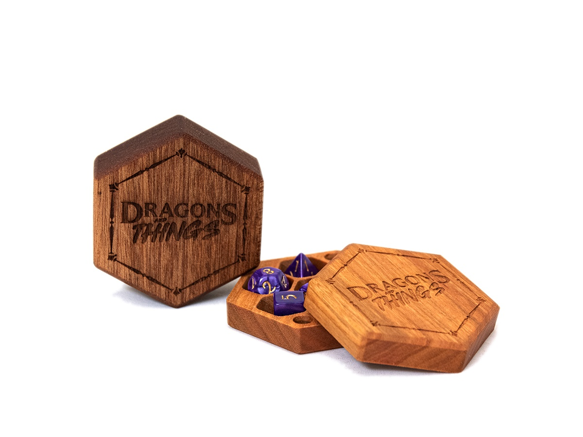 Dragons and Things Hex Chest Mini Dice Box