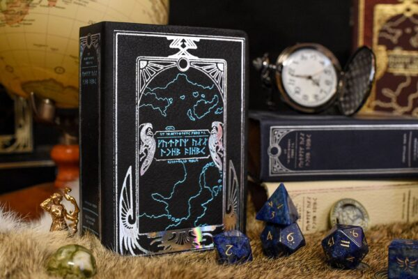 Spellbook Mini Dice Box and Gemstone RPG Dice