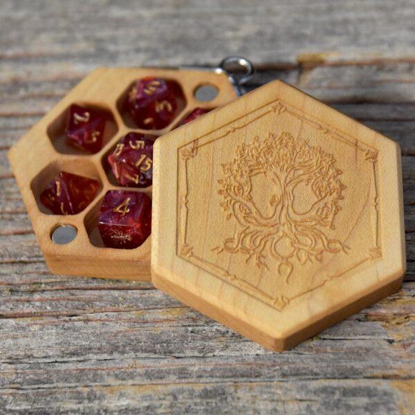 Hex Chest Mini - Birdseye Maple Yggdrasil