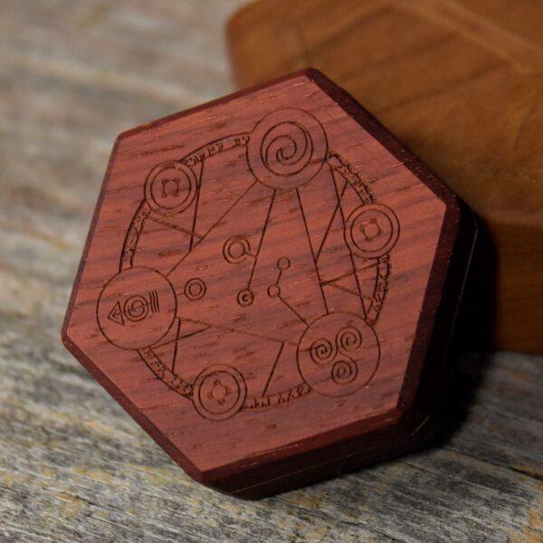 Mini Hex Chest Dice Box - Padauk Spellcircle