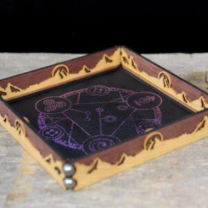 Scroll Rolling Tray - Purpleheart Cherry Spellcircle