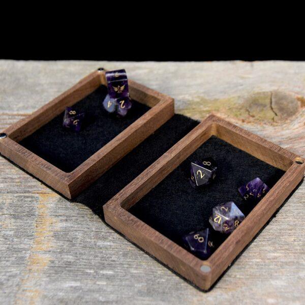 Mini Spellbook RPG Gaming Box - Extended Interior Mahogany
