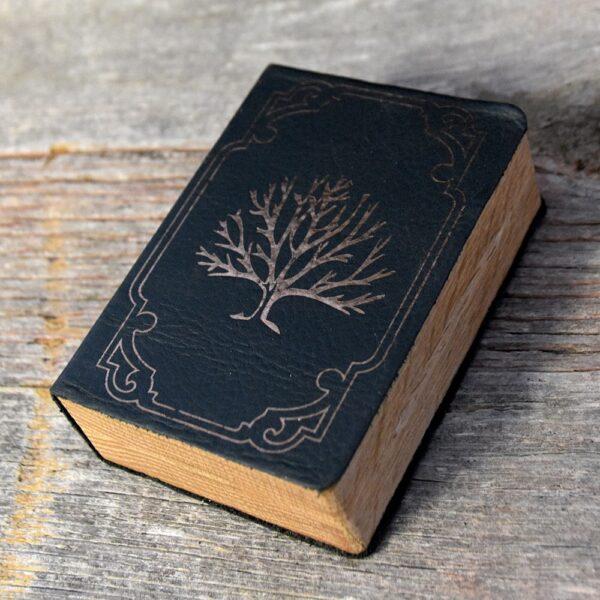 Mini Spellbook RPG Gaming Box - Extended Interior Red Oak