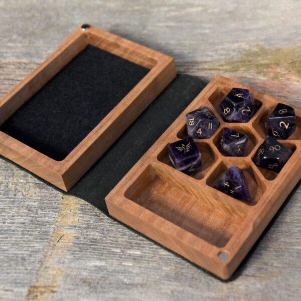 Mini Spellbook RPG Gaming Box - Cherry Interior