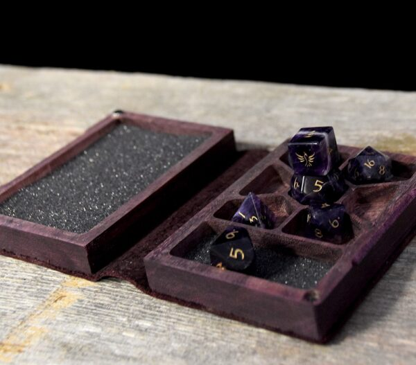 Mini Spellbook RPG Gaming Box - Purpleheart Hero Interior