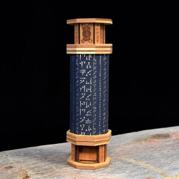 Codex Dice Tower with Gold Rune Art