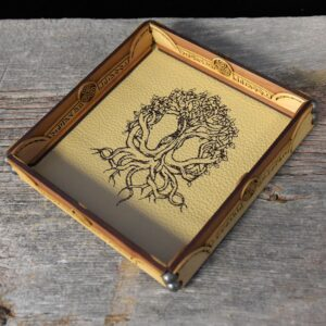 Scroll Rolling Tray with Yggdrasil Art