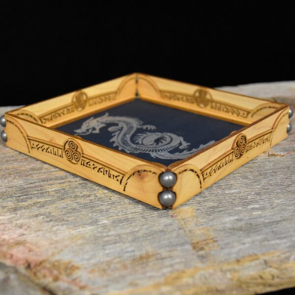 Scroll Rolling Tray with Spellcircle Flourish