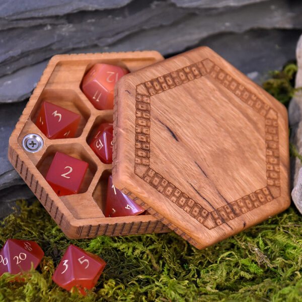 Special Edition Cherry Hex Chest Dice Box